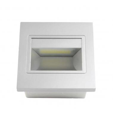 Baliza LED Interior Hydra 1.5W - 165Lm. Acabado Plata. Sistema Empotrable