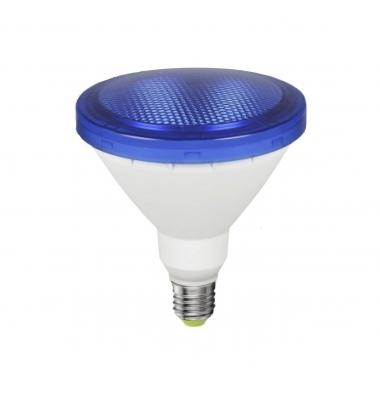 Bombilla LED Azul PAR38 E27 12W . Ángulo 120º