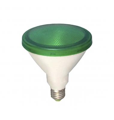 Bombilla LED Verde PAR38 E27 12W . Ángulo 120º
