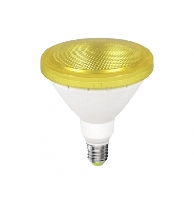 Bombilla LED Ambar PAR38 E27 12W . Ángulo 120º