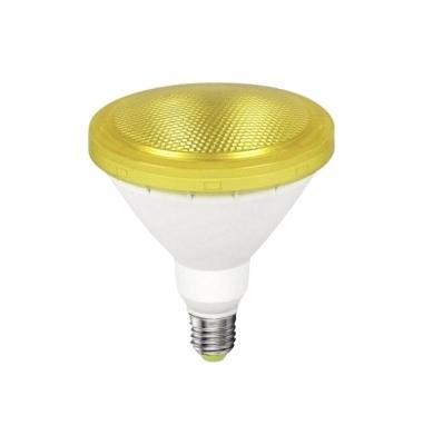 Bombilla LED E27, PAR38, 12W, Ambar, Ángulo 120º