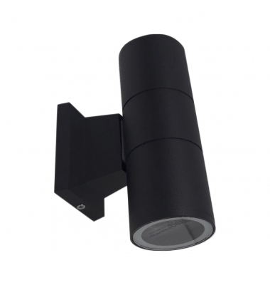 Aplique Pared Exterior Duo Negro. 2 Luces. 2*GU10
