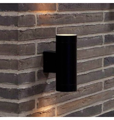 Aplique Pared Exterior - Interior Duo Negro. 2*GU10. IP54