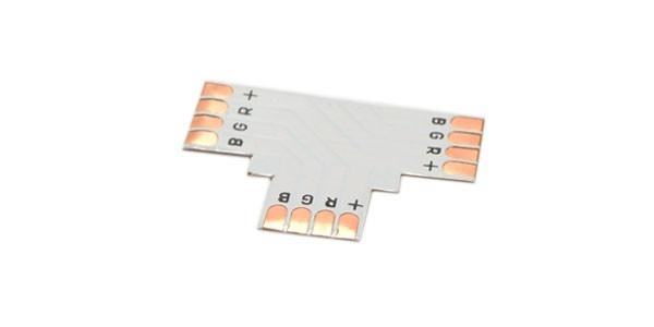 Unión conector 3 tiras RGB T 10mm