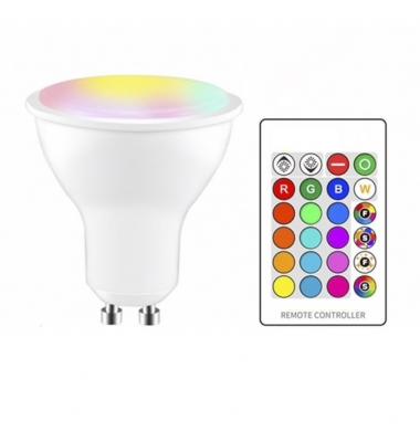 Bombilla LED GU10 3W RGB Blanco Cálido 3W. Ángulo 120º