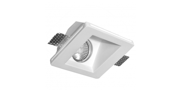 Foco Yeso Cuadrado LED Interior Samba. Luz Indirecta