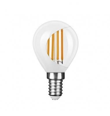 Bombilla LED E14 G45 Esférica 4W. 4000k - Natural. Acabado Blanco. Ángulo 360º