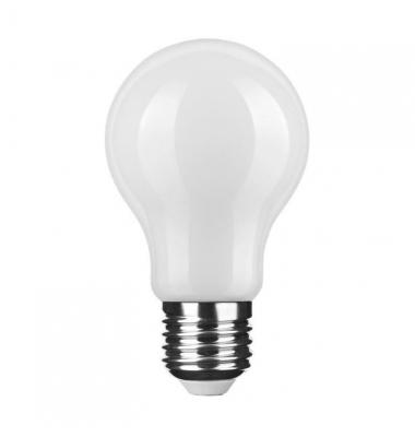 Bombilla LED E27 A60 Estándar 6W. Cálida. Acabado Blanco. Ángulo 360º