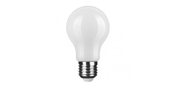 Bombilla LED E27 A60 Estándar 6W. Natural. Acabado Blanco. Ángulo 360º