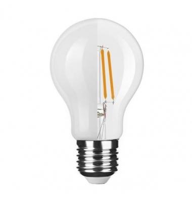 Bombilla LED E27 A60 Estándar 6W. 4000k - Natural. Acabado Blanco. Ángulo 360º