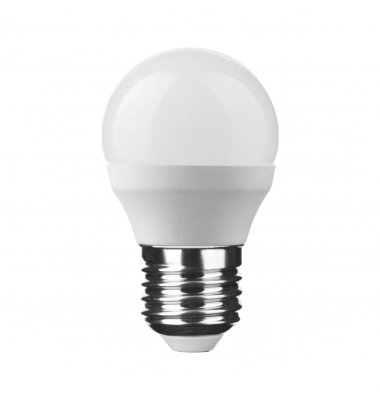 Bombilla LED E27 G45 Esférica 6W. 2700k - Blanco Cálido. Ángulo 270º