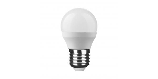 Bombilla LED Esférica E27, G45, 6W, 2700k, Blanco Cálido, Ángulo 270º