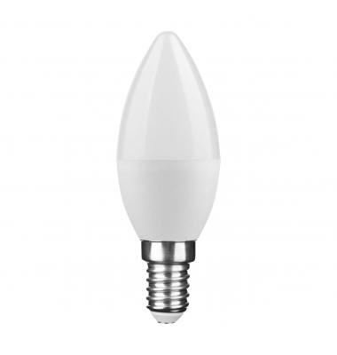 Bombilla LED E14 C37 Vela 6W. 2700k - Blanco Cálido. Ángulo 270º