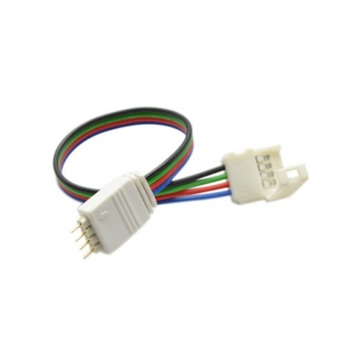 Conector prolongador RGB Macho. Tiras 10mm