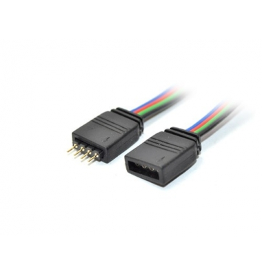 Conector prolongador RGB Macho-Hembra. Tiras 10mm