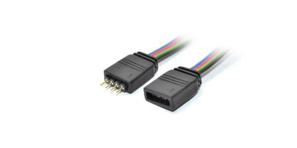Conector prolongador RGB Macho-Hembra 1m. Tira 10mm.