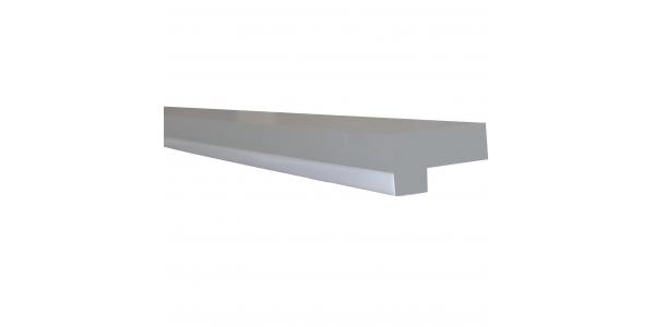 Perfil Aluminio Anodizado Prop. Para Pared. Tiras LED 10-12mm. 1 Metro