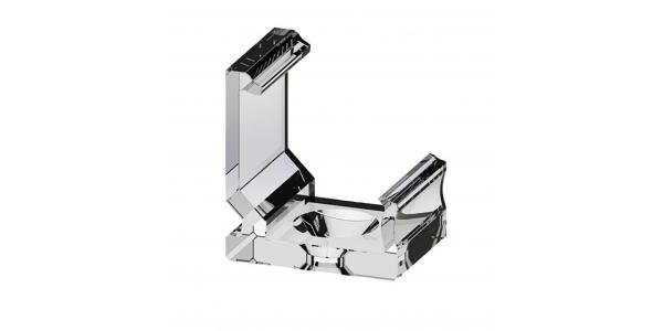 Soporte o Clip para Perfiles Aluminio para esquinas. Modelos Bob y Angle. PVC