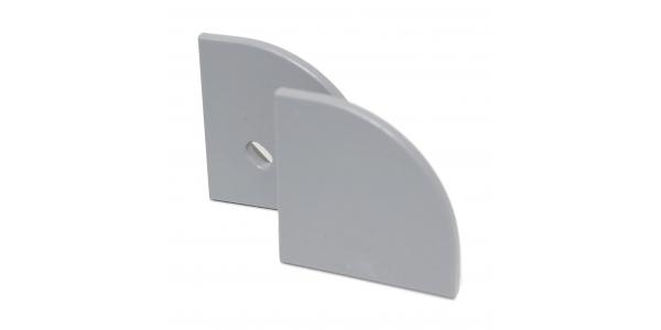 Tapas laterales de cierre. Perfil Lupa. Con y Sin agujero