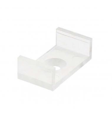 Soporte Perfil Aluminio Embed, Lower y Deep. PVC Transparente
