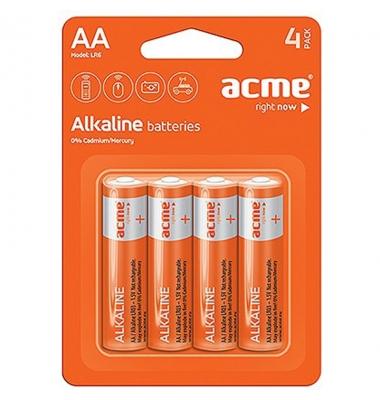 Pila Alcalina LR6-AA. Blister 4 unidades. ACME