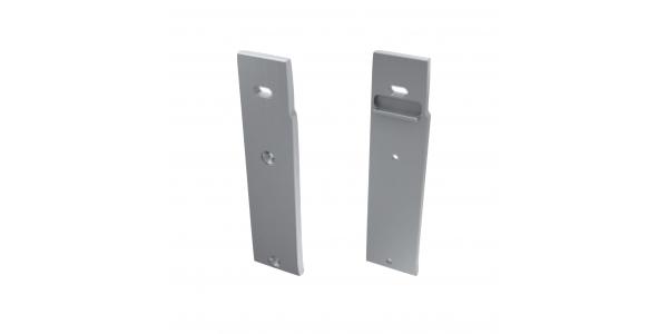 Tapa Lateral Derecha Abierta de Aluminio, Perfil WALL