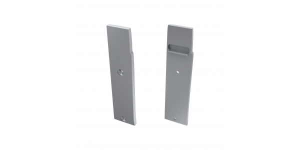 Tapa Lateral Derecha Cerrada de Aluminio, Perfil WALL