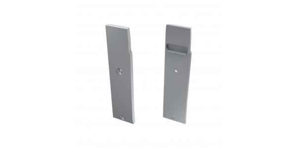 Tapa Lateral Izquierda Cerrada de Aluminio, Perfil WALL