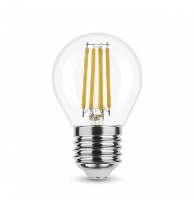 Bombilla LED E27, G45, Esférica, 4W, 2700k, Blanco Cálido. Ángulo 360º