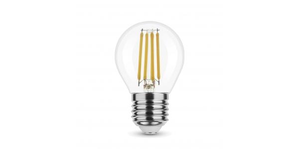 Bombilla LED E27, G45, Esférica, 4W, 4000k, Blanco Natural, Ángulo 360º