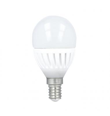 Bombilla LED E14, G45, Esférica, 10W., 4500k, Blanco Natural. Ángulo 180º