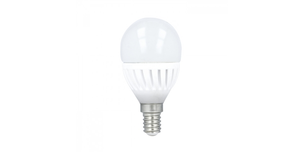 Bombilla LED E14 G45 Esférica 10W. 900 Lm. Blanco Frío. Ángulo 180º
