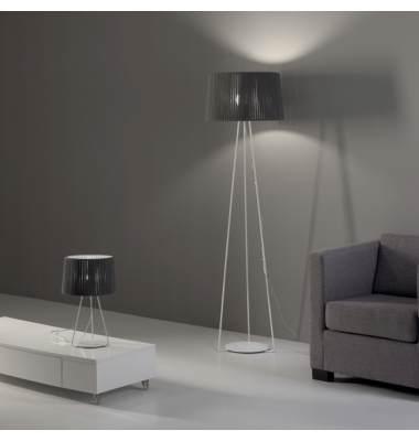 Lámpara de Pie Interior Drum de la marca Olé by FM. Diámetro 500mm. 1*27