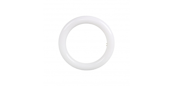 Tubo LED Redondo T9 15W - 1200 Lm . Ángulo 180º. Diámetro 21,5 cm. Blanco Frío.