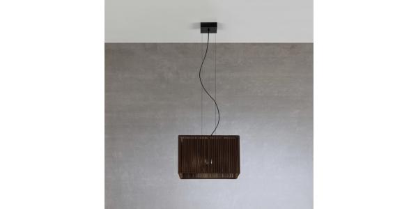 Lámpara de Suspensión Bass. 1*E27. 400*400mm.