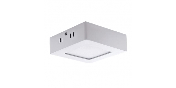 Foco Techo LED Square 6W - 480 Lm. Blanco Natural. Ángulo 120º