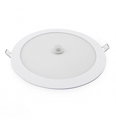 Downlight LED Panel Redondo 18W - Detector presencia - 1620 Lm. Ángulo 120º.
