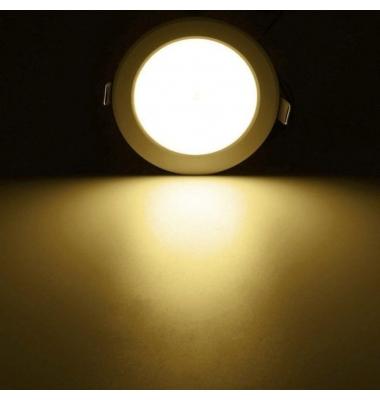 Downlight LED Panel Redondo 18W - Detector presencia - 1620 Lm. Blanco Cálido. Ángulo 120º.