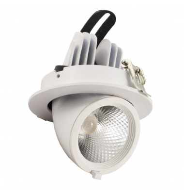 Foco Proyector LED Gimbal, Blanco, 15W, Orientable. LED Citizen. Triac Dimable. Ángulo 24º. Blanco Cálido