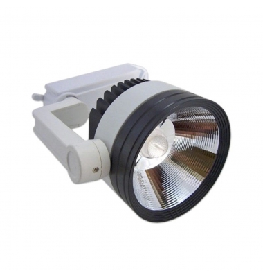 Foco Carril LED 20W COB. Blanco Frío. 1800 Lm. Ángulo 25º.