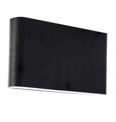 Aplique Pared Exterior e Interior Aluminio. 2*6W. Color Negro.