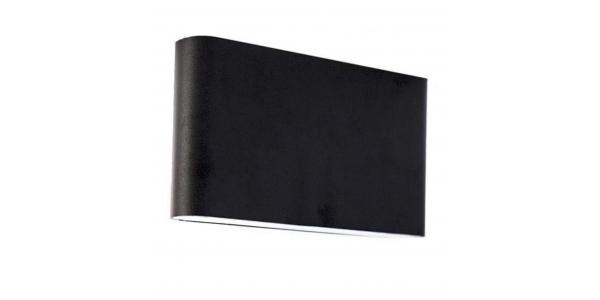 Aplique Pared Exterior e Interior Aluminio. 2*6W. Color Negro.