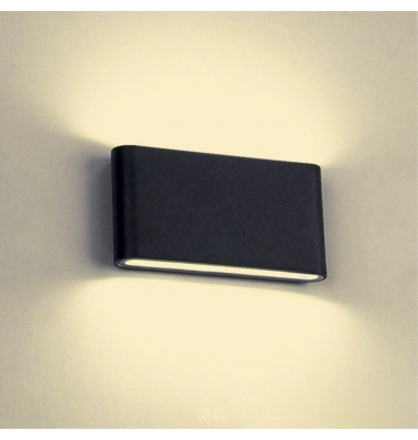 Aplique Pared LED Exterior e Interior Aluminio. 2*6W Yard. Color Negro.