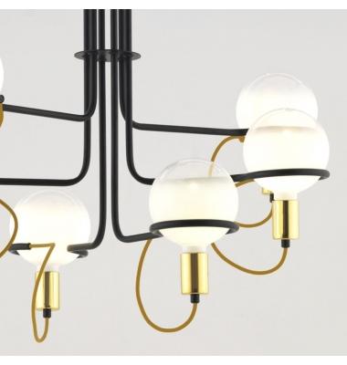 Lámpara de Suspensión GHOST de la marca Aromas. 6*E27. Diámetro 868mm