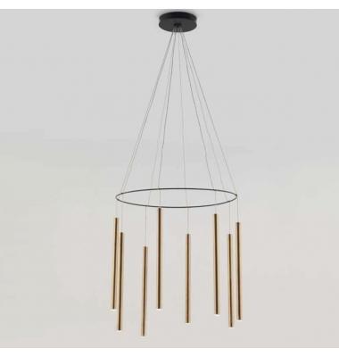 Lámpara de Suspensión MIKA MULTI de la marca Aromas. 8*1W. 3000K. Diámetro 600mm