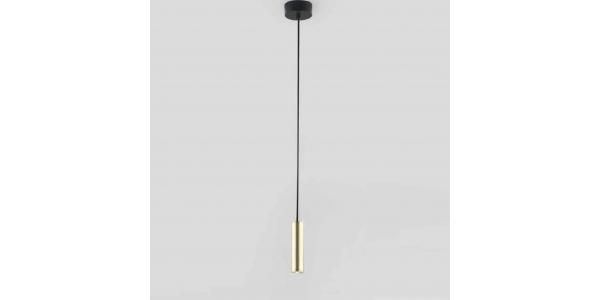 Lámpara de Suspensión MARU de la marca Aromas. 3W. 2700K. Negro, Oro Mate, Diámetro 46mm