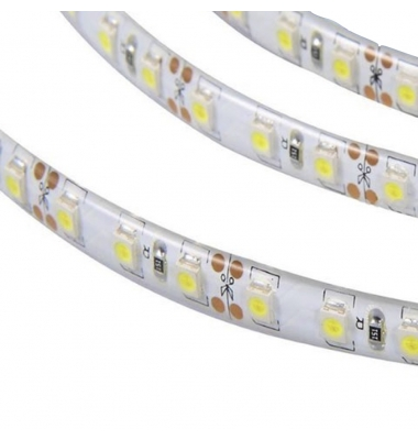 Tira LED 4,8W x metro.12VDC, SMD3528. Rollo 5 metros. 60 LEDs/metro. Uso Interior y Espacios Húmedos - IP65