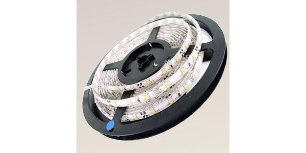 Tira LED 7,2W x metro.12VDC, SMD5050. Rollo 5 metros. 30 LEDs/metro. Uso Interior y Espacios Húmedos - IP55