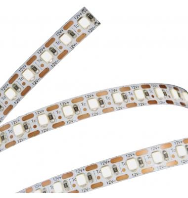 Tira LED 9.6W/m. 12VDC, SMD3528. Carrete 5 metros. 120 LEDs/m. Interior - Espacios Húmedos - IP55