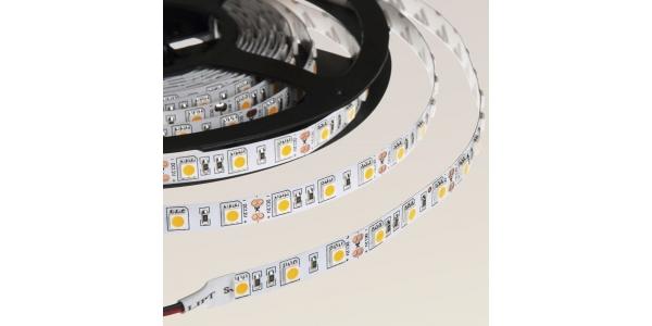 Tira LED 14,4W x metro.12VDC, SMD5050. Rollo 5 metros. 60 LEDs/metro. Uso Interior - IP20